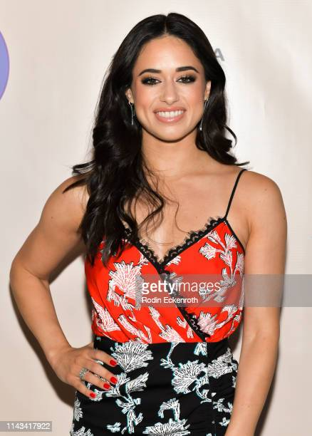 Jeanine Mason attends the opening of Center Theatre Group's Falsettos at Ahmanson Theatre on April 17 2019 in Los Angeles California