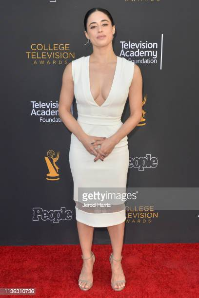 Jeanine Mason attends The Television Academy Foundation's 39th College Television Awards at Wolf Theatre on March 16 2019 in North Hollywood...