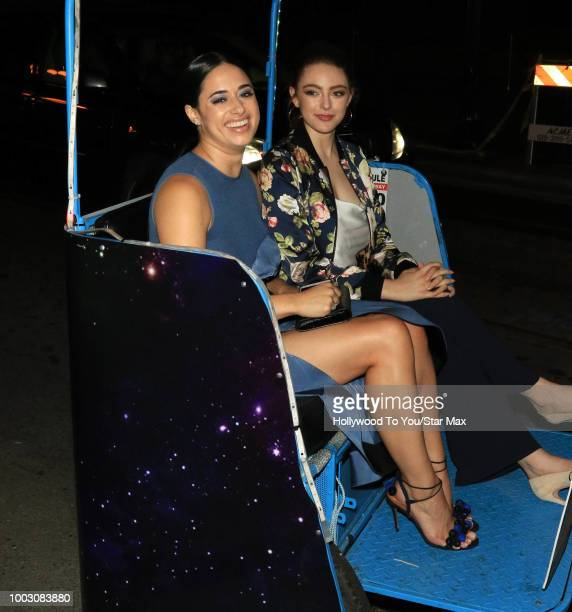 Jeanine Mason is seen on July 20 2018 at ComicCon in San Diego CA