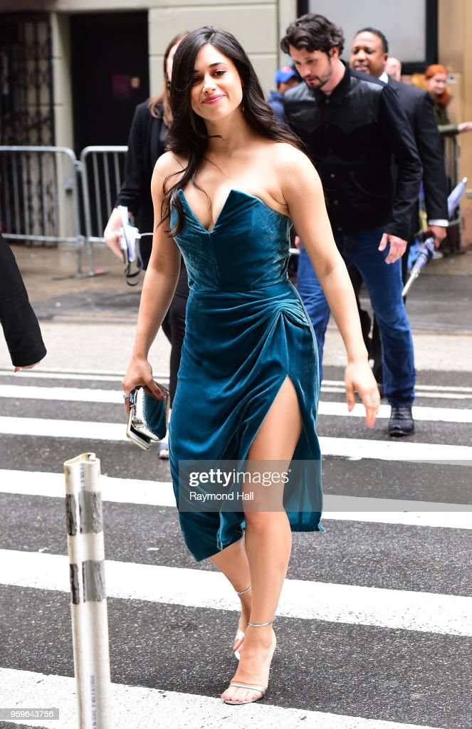 Jeanine Mason is seen walking in midtown on May 17, 2018 in New York City.