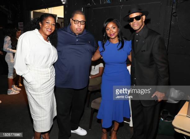 Jeanine McClean, Jeff Robinson, Joi Brown and Jimmy Jam attend the Culture Creators Innovators & Leaders Awards at The Beverly Hilton on June 26,...