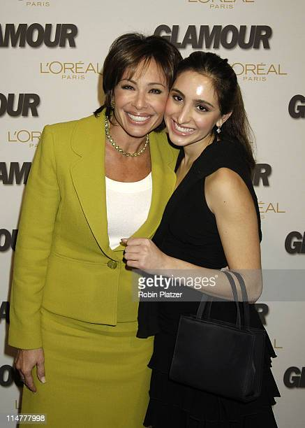 Jeanine Pirro and daughter Kiki during Glamour Magazine Salutes The 2005 Women of the Year - Inside Arrivals at Avery Fisher Hall in New York City,...
