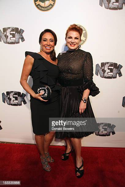 Jeanine Pirro and Georgette Mosbacher attend The 2012 Green Beret Foundation Gala Dinner at The Pierre Hotel on October 3, 2012 in New York City.