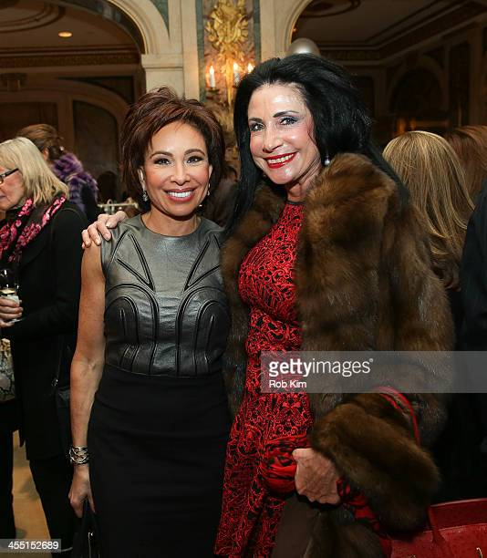Jeanine Pirro and guest attend Police Athletic League's 25th Annual Women of the Year Luncheon at The Plaza Hotel on December 11, 2013 in New York...