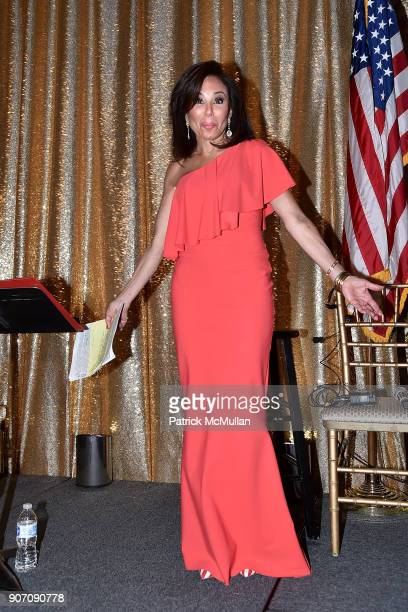 Jeanine Pirro attends President Trump's one year anniversary with over 800 guests at the winter White House at MaraLago on January 18 2018 in Palm...