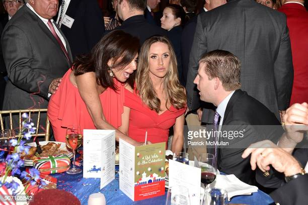 Jeanine Pirro Lara Trump and Eric Trump attend President Trump's one year anniversary with over 800 guests at the winter White House at MaraLago on...