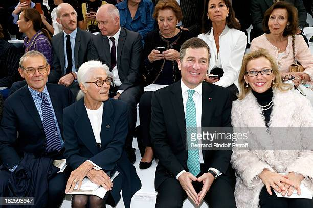 JeanJacques Aillagon Micheline ChabanDelmas Ambassador of USA Charles Rivkin and his wife SuzanTolson attend the Chanel show as part of the Paris...