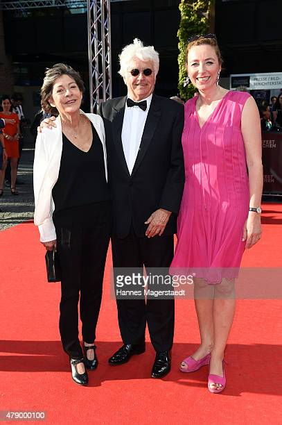 JeanJacques Annaud and his wife Laurence Annaud and Diana Iljine attend the Cine Merit Award during the Munich Film Festival at Gasteig on June 29...