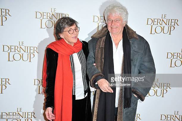 JeanJacques Annaud and his wife Laurence Annaud attend the 'Le Dernier Loup' Paris Premiere at Cinema UGC Normandie on February 16 2015 in Paris...