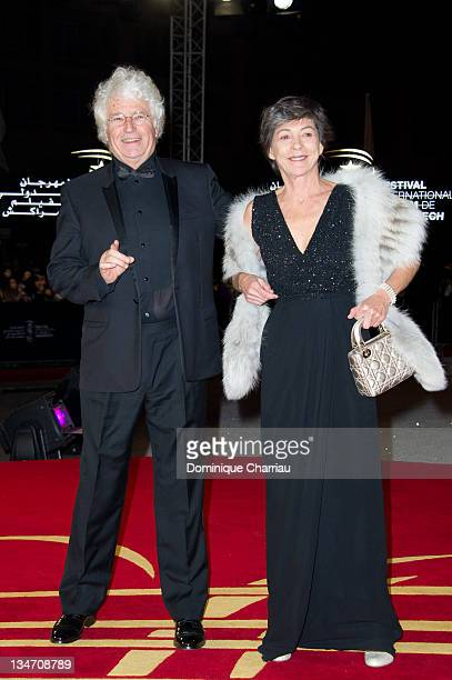 JeanJacques Annaud and his wife Laurence attend the 'Black Gold' Premiere during Marrakech International Film Festival 2011 on December 3 2011 in...
