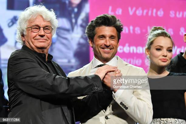JeanJacques Annaud and Patrick Dempsey attend the Launch of the Official Competition and The Truth About The Harry Quebert Affair screening during...