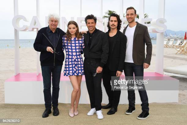 JeanJacques AnnaudKristine FrosethPatrick DempseyBen Schnetzer and Joel Dicker attend The Truth About the Harry Quebert Affair Photocall during the...