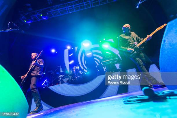 JeanJacques Burnel and Baz Warne of The Stranglers perform on stage at O2 Academy Glasgow on March 8 2018 in Glasgow Scotland