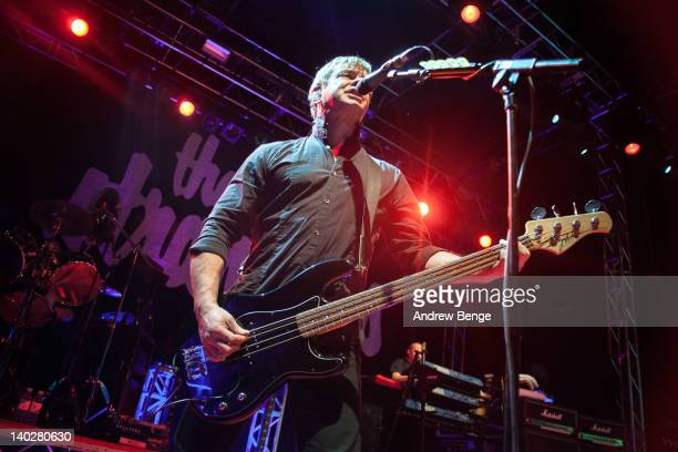 JeanJacques Burnel and Dave Greenfield of The Stranglers performs on stage at O2 Academy on March 1 2012 in Leeds United Kingdom