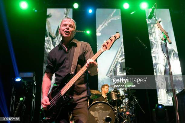 JeanJacques Burnel and Jim MacAulay of The Stranglers perform on stage at O2 Academy Glasgow on March 8 2018 in Glasgow Scotland