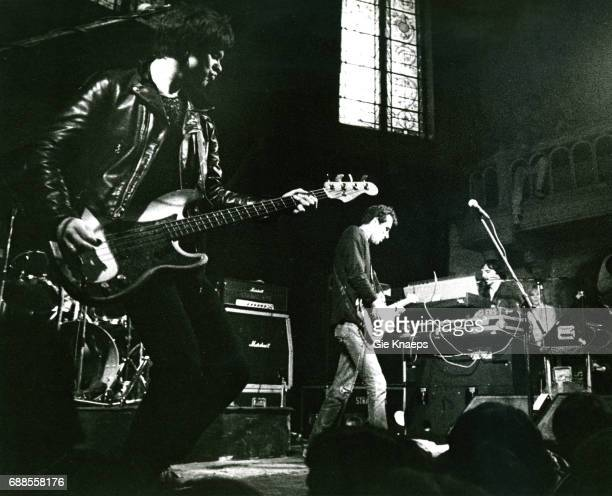 JeanJacques Burnel Hugh Cornwell Dave Greenfield The Stranglers Paradiso Amsterdam Holland 1977