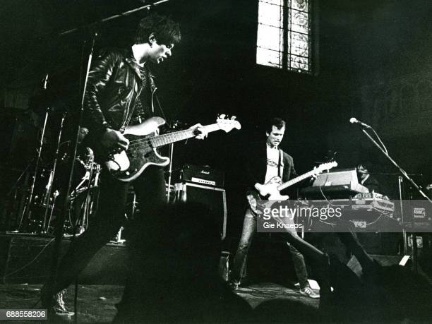 Jean-Jacques Burnel, Hugh Cornwell, Dave Greenfield, The Stranglers, Paradiso, Amsterdam, Holland, 1977.