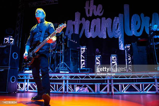 Jean-Jacques Burnel of The Stranglers performs on stage at O2 Academy on March 1, 2012 in Leeds, United Kingdom.