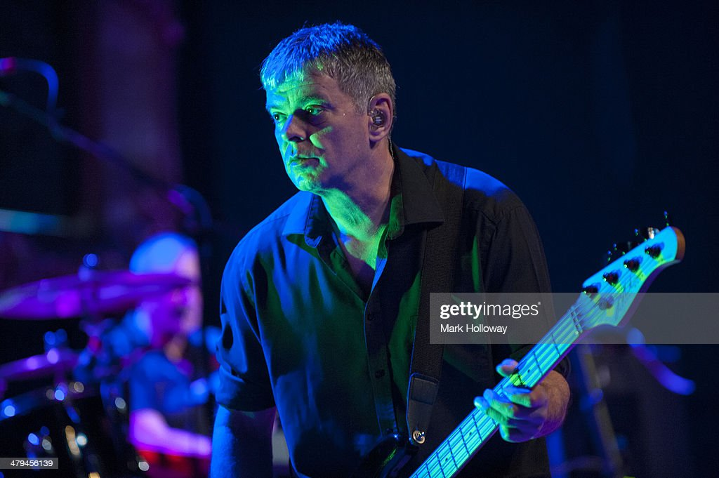 Jean-Jacques Burnel of The Stranglers performs on stage at Portsmouth Guildhall on March 18, 2014 in Portsmouth, United Kingdom.