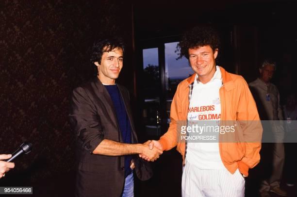 JeanJacques Goldman et Robert Charlebois lors d'un festival en juillet 1986 à Montréal Canada