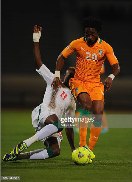 JeanJacques Gosso of Ivory Coast in action during the FIFA 2014 World Cup Qualifier Playoff Second Leg between Senegal and Ivory Coast at Stade...