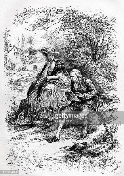 JeanJacques Rousseau and Louise D'Epinay portrait of the French Swiss philosopher and writer sitting with the French writer JR 28 June 1712 2 July...