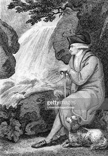 JeanJacques Rousseau contemplating the natural beauty of Switzerland French political author educationalist and philosopher Engraving 1787