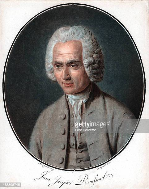 JeanJacques Rousseau French political philosopher educationalist and author Aquatint after portrait by Garneray from Pierre Michel Alix series of...