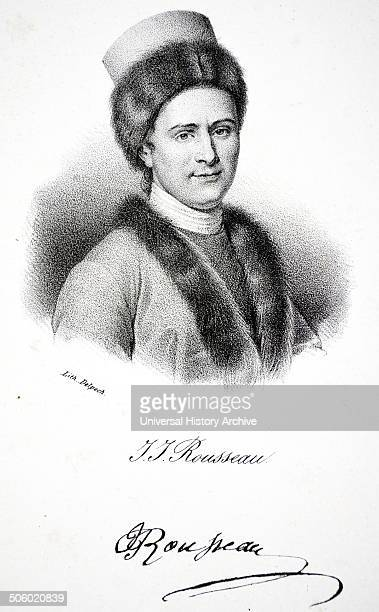 JeanJacques Rousseau French political philospher and educationalist Lithograph Paris c1840 Photo by