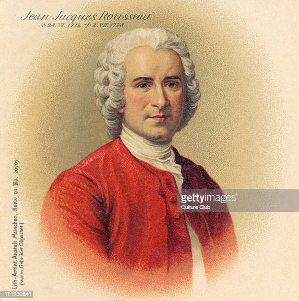 JeanJacques Rousseau portrait SwissFrench philosopher writer and composer 28 June 1712 2 July 1778