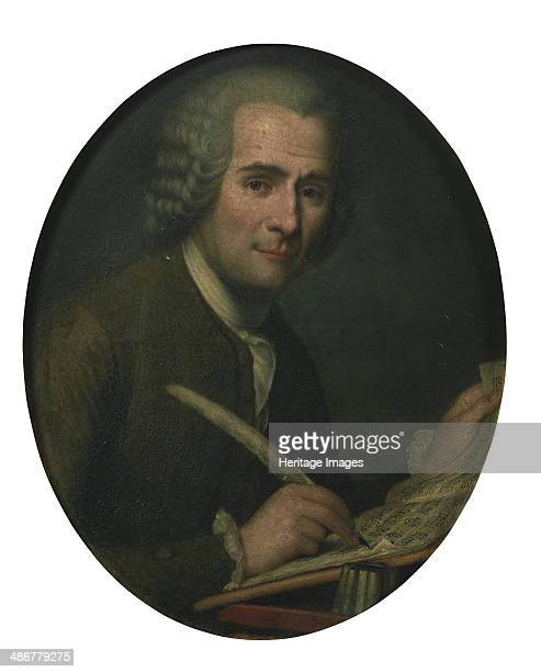 JeanJacques Rousseau writing a sheet music Artist Anonymous