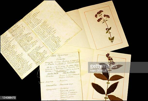 JeanJacques Rousseau's fabulous 'Delessert' herbarium or the introduction to botany In Montmorency France On November 14 2001