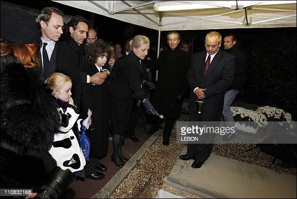 JeanJacques ServanSchreiber'S Funeral Leader Of The Press And Politician In Veulettes Sur Mer France On November 11 2006 David ServanSchreiber Sabine...