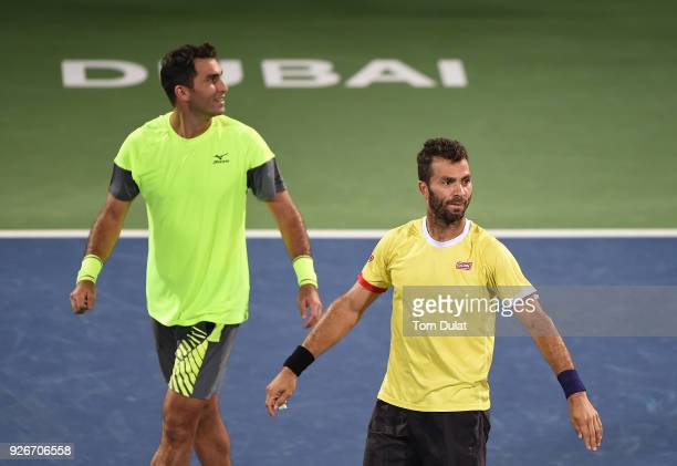JeanJulien Rojer of Netherlands and Horia Tecau of Romania celebrate winning their doubles final match against Jamie Cerretani of United States and...
