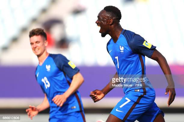 JeanKevin Augustin of France celebrates after scoring a goal during the FIFA U20 World Cup Korea Republic 2017 group E match between France and...