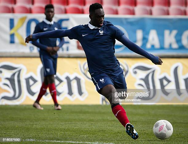 JeanKevin Augustin of France in action during the UEFA European U19 Championship Elite Round Group 7 match between Serbia and France at Stadium Cika...