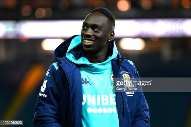 JeanKevin Augustin of Leeds United ahead of the Sky Bet Championship match between Leeds United and Millwall at Elland Road on January 28 2020 in...
