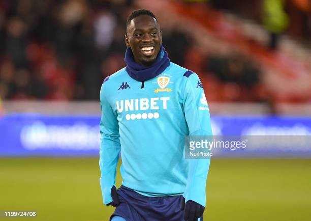 JeanKevin Augustin of Leeds United during the Sky Bet Championship match between Nottingham Forest and Leeds United at the City Ground Nottingham on...