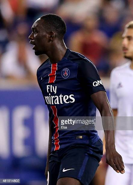 JeanKevin Augustin of Paris SaintGermain celebrates his goal in the second half agianst AFC Fiorentina during the International Champions Cup at Red...