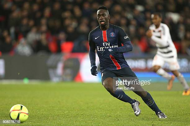 JeanKevin Augustin of PSG in action during the French Ligue 1 match between Paris SaintGermain and FC Lorient at Parc des Princes stadium on February...