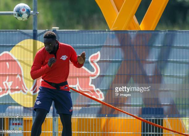 JeanKevin Augustin of RB Leipzig controls the ball during the RB Leipzig Training Camp on July 16 2019 in Seefeld Austria