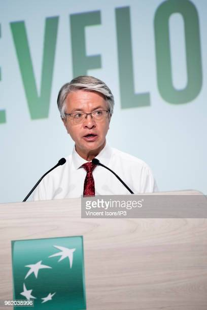 CEO JeanLaurent Bonnafe attends the French banking group BNP Paribas general shareholders meeting on May 24 2018 in Paris France The largest French...