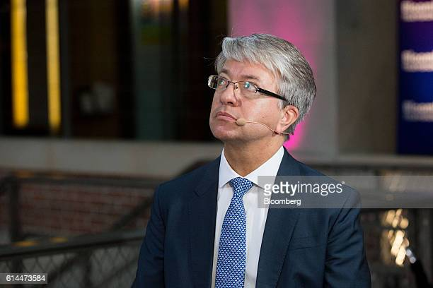 Jean-Laurent Bonnafe, chief executive officer of BNP Paribas SA, pauses during a Bloomberg Television interview at the Hello Tomorrow technology...