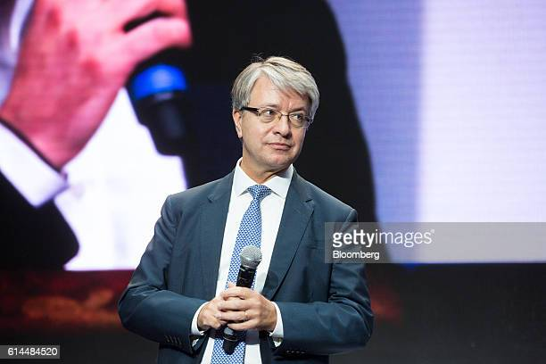 Jean-Laurent Bonnafe, chief executive officer of BNP Paribas SA, pauses whilst speaking at the Hello Tomorrow technology conference in Paris, France,...