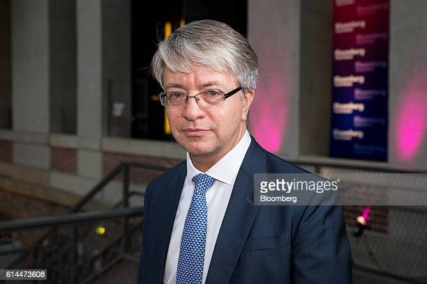 Jean-Laurent Bonnafe, chief executive officer of BNP Paribas SA, poses for a photograph following a Bloomberg Television interview at the Hello...