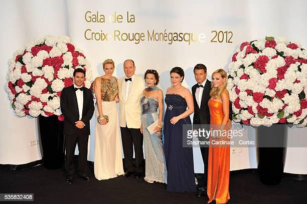 JeanLeonard Taubert de Massy Princess Charlene of Monaco Prince Albert II of Monaco ElisabethAnn de Massy Melanie Antoinette de Massy M Garett...