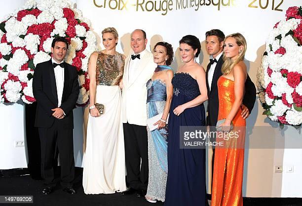Jean-Leonard Taubert-Natta de Massy, Princess Charlene of Monaco, Prince Albert II of Monaco, Elisabeth-Anne de Massy, Melanie-Antoinette de Massy,...