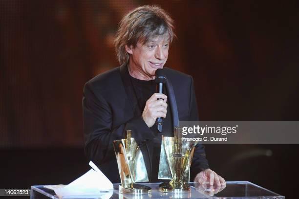 JeanLouis Aubert receives an award during 'Les Victoires de La Musique 2012' at Palais des Congres on March 3 2012 in Paris France