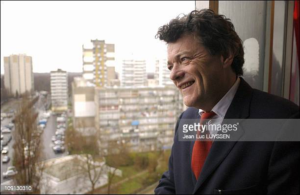 JeanLouis Borloo Goes To The Seine SaintDenis On Sites Of Urban Renovation Projects On May 12 2005 In Aulnay Sous Bois France