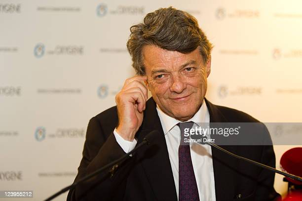 JeanLouis Borloo speaks at the launch of his supporting association 'O comme Oxygene' at La Cours du Marais on September 6 2011 in Paris France...